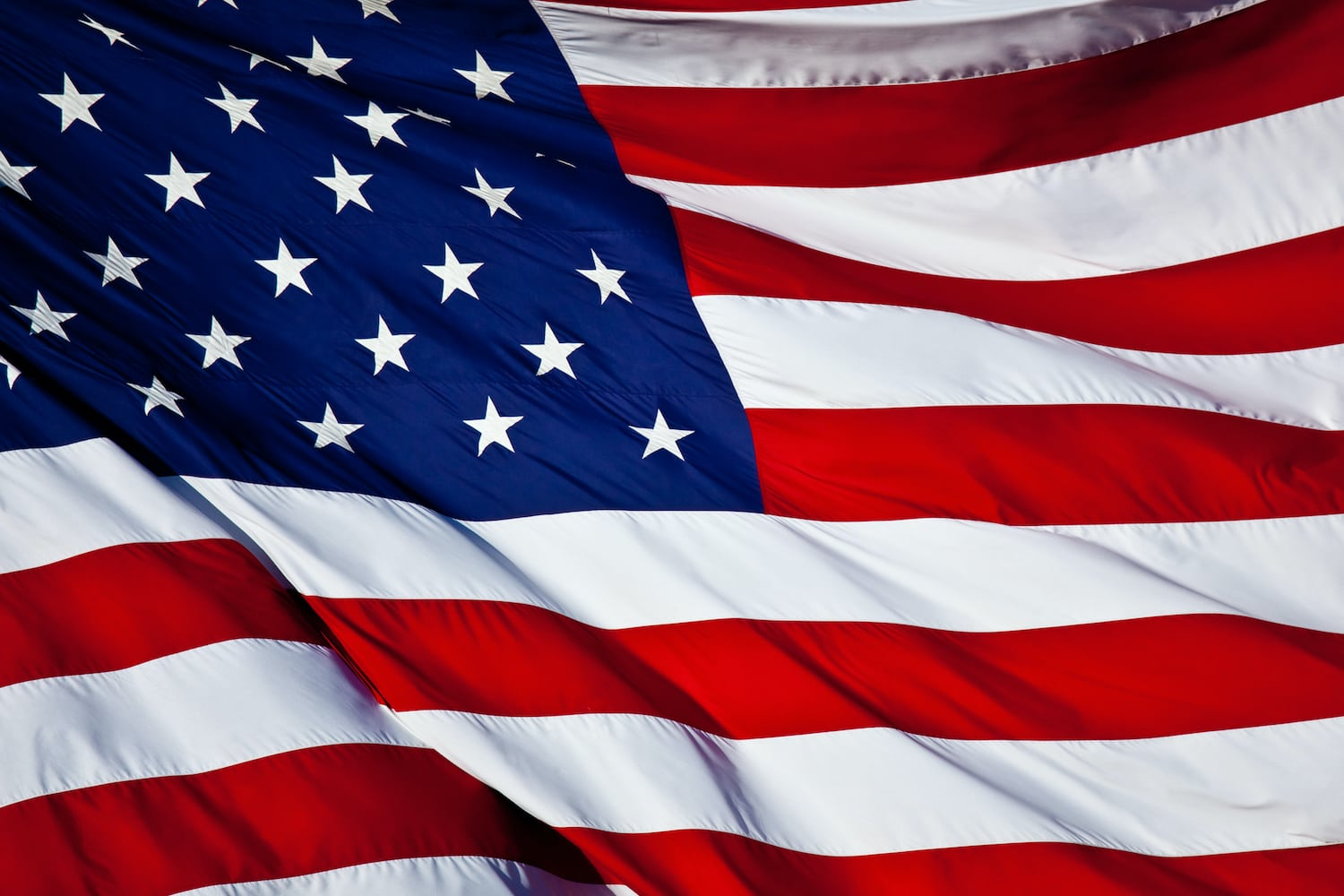 an American flag background waving in the wind
